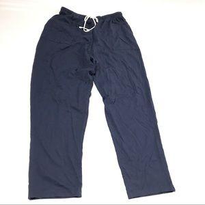Blair Womens Pants Size L Petite Navy Blue Pull On